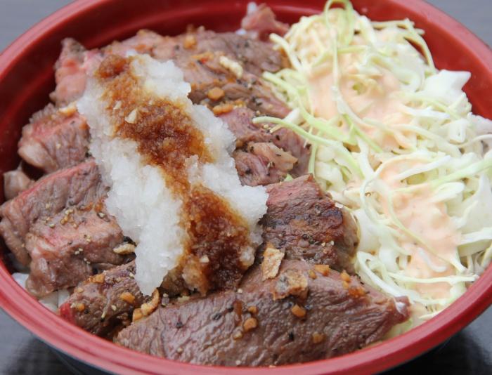 ㈪おろしポン酢牛ステーキ丼(ステーキのアベンチュラ)